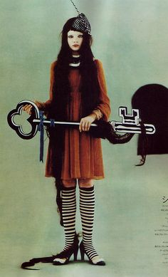 This is just cool. Alice in Wonderland-circus-goth-esque magazine weirdness.
