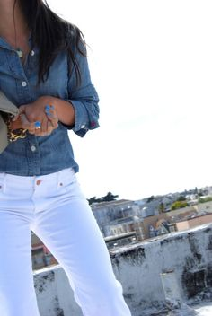 Yes. Just got a new pair of white pants like these... I guess jeans would be the correct word