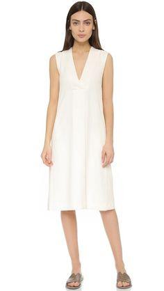 Vince Front Pleat V Dress #Shopbop