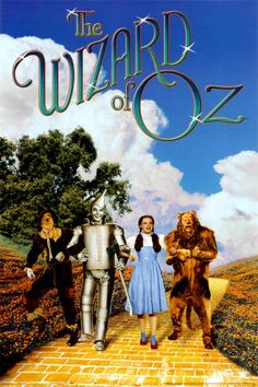 A great Wizard of Oz movie poster! Dorothy, the Scarecrow, the Tin Man, and the Cowardly Lion on the Yellow Brick Road! Check out the rest of our excellent selection of Wizard of Oz posters! Need Poster Mounts. Wizard Of Oz Movie, Wizard Of Oz 1939, Old Movies, Great Movies, Awesome Movies, Movies For Kids, Vintage Movies, See Movie, Movie Tv