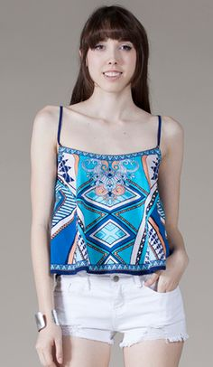 19b282e69dd Sydney Cropped Tank - GOLDFINCH boutique Patterned Flared Crop Top