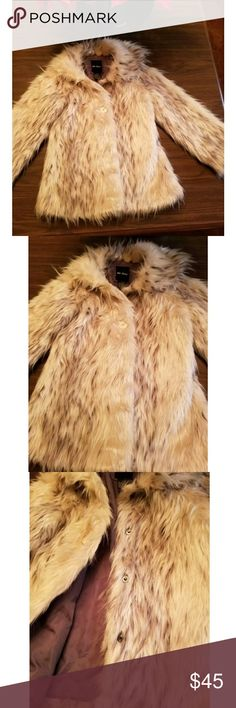 🖤 Shaggy Furry Winter Coat 🖤 Super soft furry coat in cream! 🐩 Superbly adorable and stylish 👯‍♀️ Can be dressed up or down.  In great condition! Tagged as a 14 girls, will fit a women's XS or S. For reference, I'm a size S and it fits nicely. I love this coat so very much! 💔 Unfortunately I'm seriously trying to make room in my closet. 🙀 Questions? Feel free to ask!  Thanks for looking! 💋 Jackets & Coats