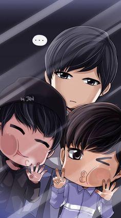 Ravi, Ken, and Leo fanart