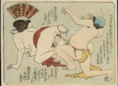 No daily subject matter was omitted in the images of shunga, so pregnant women having sex with their spouses should not be missing from the artist's idiom. Japanese Colors, Japanese Prints, Kuniyoshi, Spring Pictures, Japan Art, Woodblock Print, Erotic Art, Artist, Women