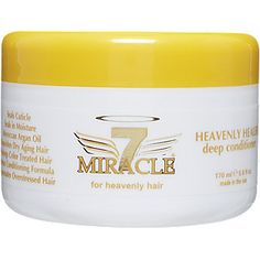Miracle 7 Heavenly Healer Deep Conditioner  Seals cuticle  Argan oil conditioning  Nourishes overly stressed air Helps aging hair #sallybeauty