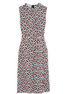 Geraffte Kleid, Pinkes Kleid, Blaue Kleider, Prada Schuhe, Miuccia Prada,  Bedruckte 2a9f6a0275