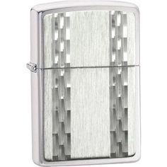 Zippo 24994 Vertical Diamond Cut Stainless Steel Lighter