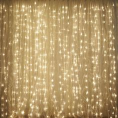 600 Sequential Warm White LED Lights BIG Wedding Party Photography Organza Curtain Backdrop - x - ChairCoverFactory White Led Lights, String Lights, White Light, Curtain Lights, Backdrop Lights, Curtain Rods, Fairy Light Curtain, Lokal, Party Photography