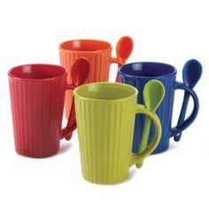 Bistro Coffee Mug Set