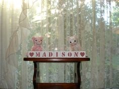 Baby Name Blocks Madison Rose Pink free shipping by woodblocks4you, $25.95