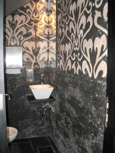Moor Tile, Please! Backsplash, Countertops, Mosaic, Sink, Flooring, Black And White, Bathroom, Murals, Glass