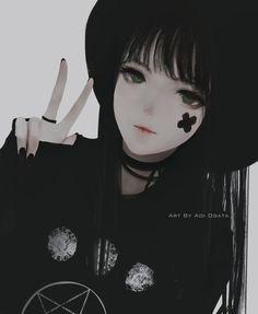 Anime girl by aoi ogata Anime Neko, Kawaii Anime Girl, Manga Kawaii, Cool Anime Girl, Chica Anime Manga, Fanarts Anime, Beautiful Anime Girl, Anime Art Girl, Anime Love