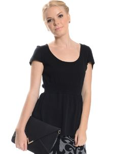 Shop ModDeals.com for Black Knit Blouse With Natural Waistline in our cheap trendy Tops category. Find trendy cheap clothing for women, discount shoes, jewelry sales, perfume & cheap accessories for w