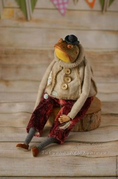 Купить Мистер Жабс Зейн-о - комбинированный, жаба, лягушка, Будуарная кукла, ладолл, ливингдолл, Ладолл