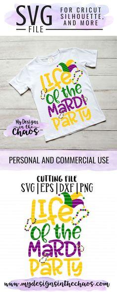 Mardi Gras Svg Files Silhouette And Cricut Cutting Files