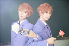 Kaoru & Hikaru - Hitachiin - Ouran cosplay - Mr Willie & KumaQi (2/4)
