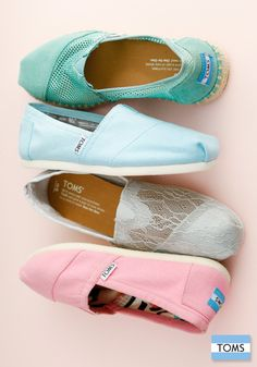 Nothing says spring quite like a new pair of TOMS pastel Classics.