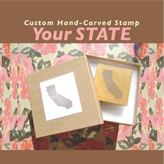 hand-carved state stamp.