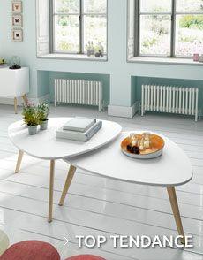 Avec le set de tables basses gigognes Compas de Zendart Design, vous augmentez rapidement votre capacité d'accueil.