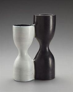 Georges Jouve double 'Diabolo' vase