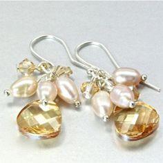 swarovski-crystal-earrings-sterling-silver-Golden-Shadow