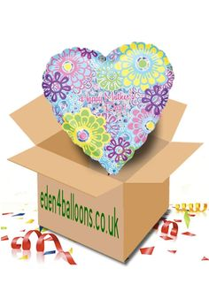 Mothers Day Balloon in a Box Mothers Day Balloons, Gifts Delivered, Mothers Day Flowers, Flowers Delivered, D Day, Bouquet, Box, Floral, Handmade