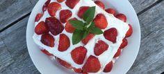 Aardbeien cake - Lowcarbchef.nl