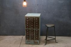 Vintage Industrial Machinist's Cabinet. Steel Drawer.