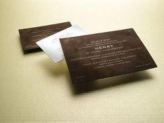 suede invitation