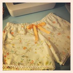 Sleep Shorts from Vintage Sheets on Mom's Crafty Space   June 6, 2012 by Heidi 4 Comments