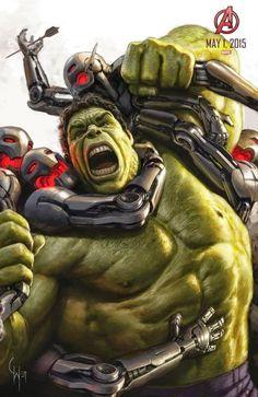 Hulk em destaque no novo pôster de Os Vingadores 2: A Era de Ultron.