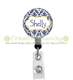 Retractable ID Badge Reel Personalized Gold and by CreativeSanity, $7.50