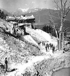 Berghof - Hitler& house on the Obersalzberg near Berchtesgaden Germany Area, Germany Ww2, War Photography, Second World, Rare Photos, Historical Photos, World War Ii, Wwii, Shelled