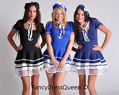 Womens Navy Sailor Fancy Dress Costume Girl Outfit | eBay