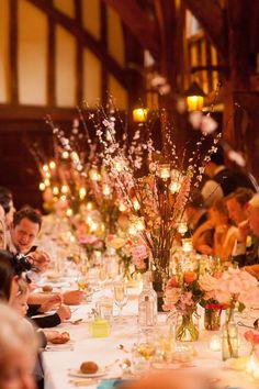 DIY Wedding Centerpieces Branches | Pink Branch Centerpieces - Elizabeth Anne Designs: The Wedding Blog