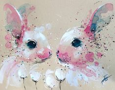 Bunny #4 • original watercolour painting by Tilen Ti 2016 A3 • 297 x 420 mm • 11.7 x 16.5 inches online stor Watercolor Art Diy, Watercolor Animals, Watercolour Paintings, Lapin Art, Bunny Painting, Art Aquarelle, Rabbit Art, Rabbit Drawing, Rabbit Crafts