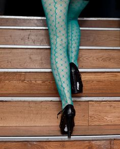 turquoise tights