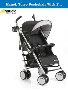 Hauck Torro Pushchair With Footmuff And Raincover - Black. Torro, the stylish buggy guaranteed to attract everyone's attention. With modern fashion colours, and a contrasting colour stripe that adorns the stylish chassis, the Torro looks classy and makes it stand out from the crowd. Stylish modern buggy, in stylish fashion colours Extremely agile thanks to the new wheels and features a carry strap. Pushchair specifications: Weight 7.8kg. Age suitability: from birth. Suitable for children…