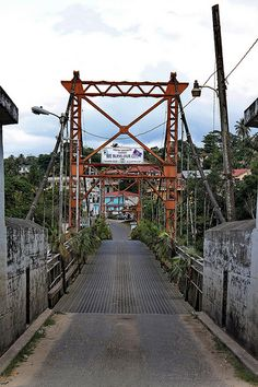 San Ignacio Cayo District of Belize; The Hawkesworth Bridge was moved by the British from Sierra Leone to San Ignacio in 1949 Honduras, Central America, South America, Living In Belize, Belize Vacations, Belize City, Mayan Ruins, Caribbean Sea, Sierra Leone