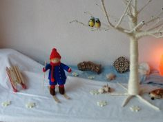 Wool tree on wintertable Waldorf