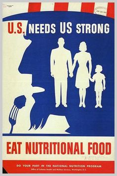 American poster: U.S. needs US Strong - Eat Nutritional Foods.#Repin By:Pinterest++ for iPad#