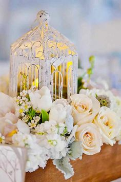 Browse our shabby chic wedding inspiration gallery, filled with ideas for the perfect shabby chic wedding. Shabby chic centerpieces, decorations and more. Lantern Centerpiece Wedding, Wedding Lanterns, Wedding Table Centerpieces, Floral Centerpieces, Reception Decorations, Centerpiece Ideas, Table Wedding, Centrepieces, Floral Wedding