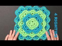 Crocheted Box Stitch Pattern For Blanket, Pillow Case, Pot Holder etc. (...