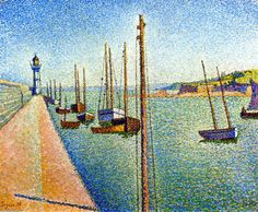 The masts, Portrieux, Opus 182, 1888 / Paul Signac