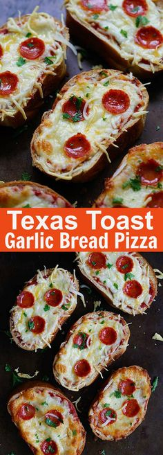 Texas Toast Garlic Bread Pizza – loaded with pizza sauce, mozzarella cheese and pepperoni, these addictive garlic bread pizza is a party favorite | rasamalaysia.com