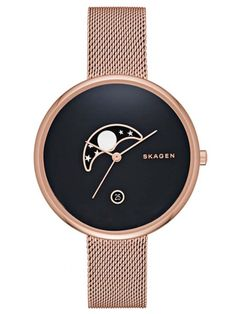 SKAGEN GITTE | SKW2371                                                                                                                                                                                 More Latest Women Watches, Skagen Watches, Mesh Band, Stainless Steel Mesh, Me Adora, Cool Watches, Watches For Men, Leather Accessories, Moon Watch