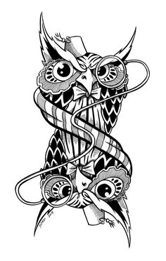 Doctor Hoo Owl Coloring Pages, Colouring, Coloring Books, Doctor Who Tattoos, Art Designs, Owls, Birds, Ink, Artist