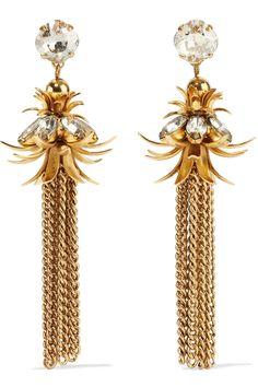8d6488e155a70e Elizabeth Cole gold-plated Swarovski crystal earrings Swarovski Crystal  Earrings, Initial Necklace, Calla
