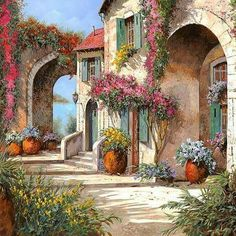 Archi A Toni Viola Art Print by Guido Borelli. All prints are professionally printed, packaged, and shipped within 3 - 4 business days. Landscape Quilts, Landscape Art, Landscape Paintings, Canvas Art, Canvas Prints, Art Prints, Framed Prints, Fine Art Amerika, Decoupage Vintage