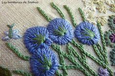 Jardin bleu - Les Broderies de Sophie